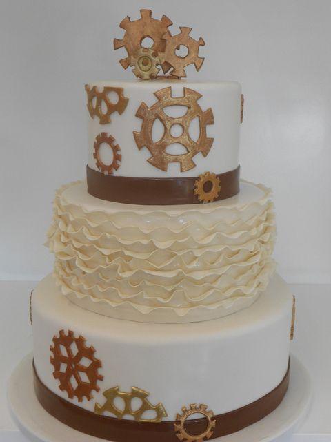 Spectacular Steam punk wedding cake