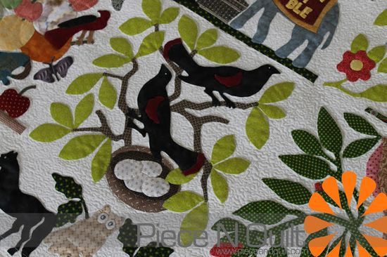 Piece N Quilt - Bird of Paradise Quilt, machine quilted by Natalia Bonner.