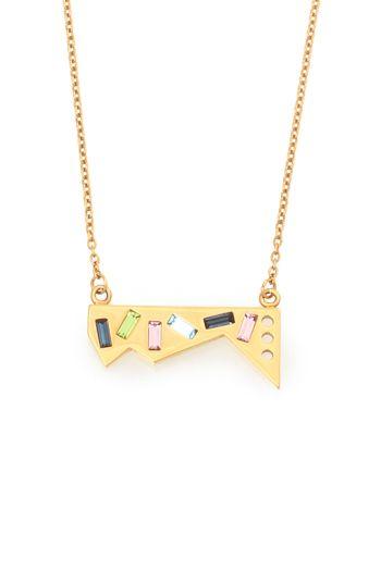 Kelly Wearstler Ettore Pendant.  Swarovski crystal in 18k gold plate. #kellywearstler