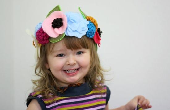 handmade felt flower crown