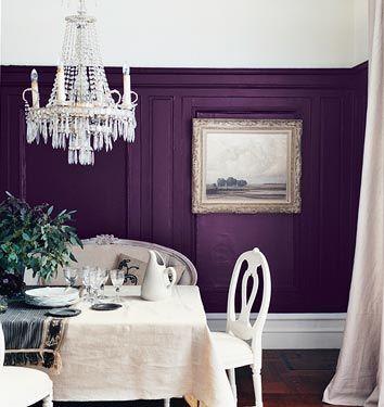 purple dining room - love!