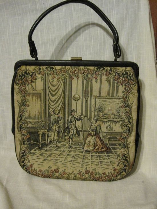 Vintage TAPESTRY Handbag Purse Carpet Bag Musical by kiddlekat, $17.95