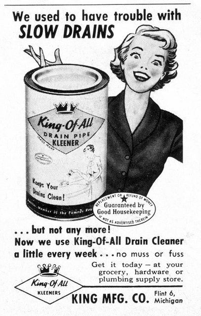 Great brand name - so mid-century! #vintage #1950s #ad #cleaning #homemaker #housewife