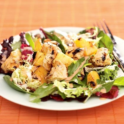 Thai Chicken, Mango and Pineapple Salad
