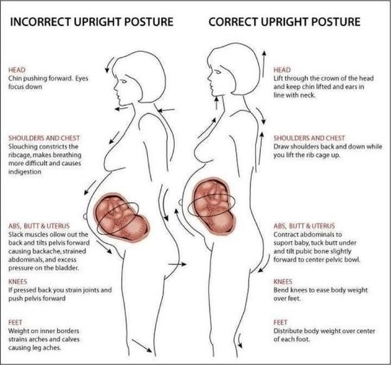 Practice your posture. // 23 Incredibly Helpful Diagrams For Moms-To-Be