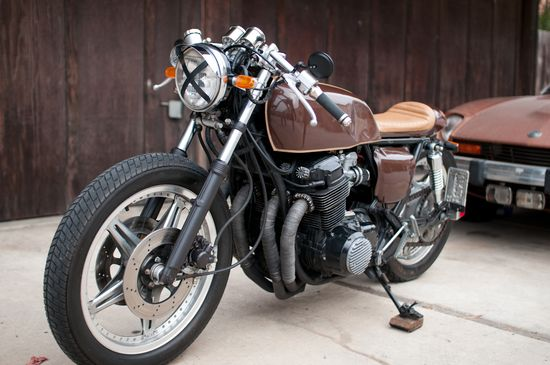 70's Brown CB750 Café Racer