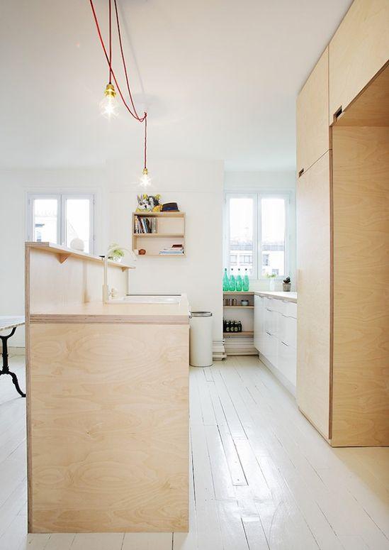 cuisine contreplaqué // Blank de Septembre