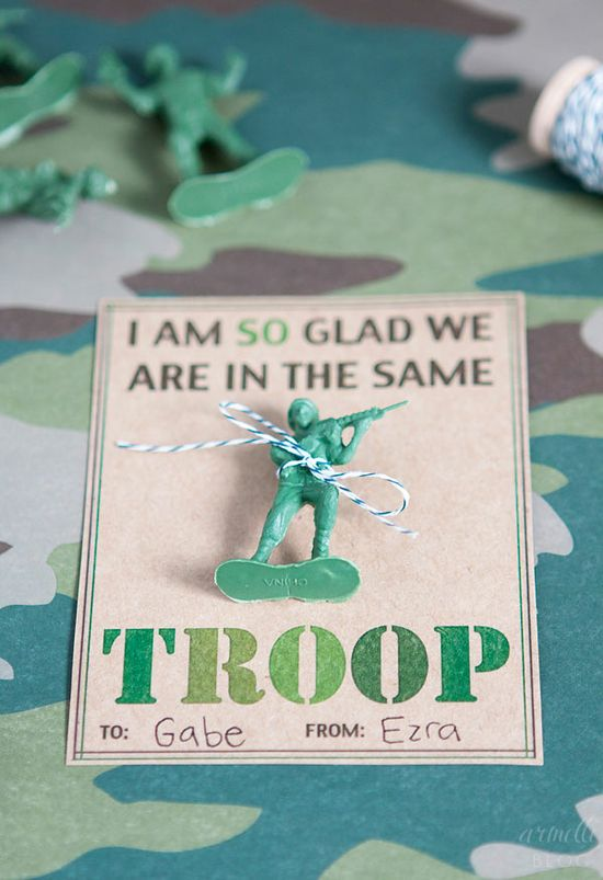 Armelle Blog: army valentines + free printable...