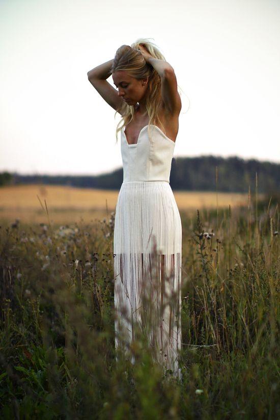 fringed dress