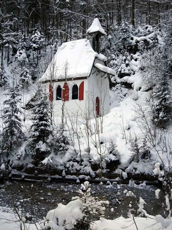 Christmas image?Snow in Berchtesgarden, Germany