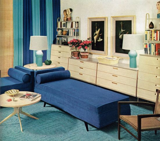 Living room design, 1953