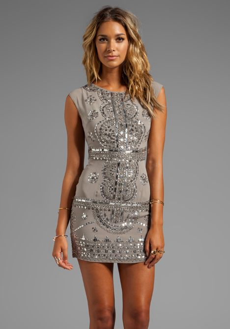 Dress in Grey/Antique Silver
