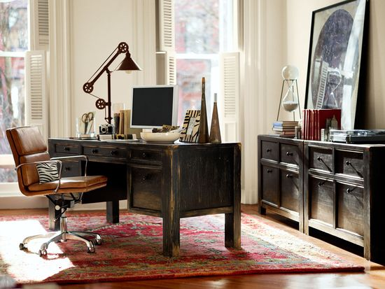 Personalize your home office to make it your own. #potterybarn
