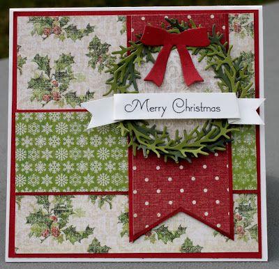 handmade Christmas card from Crafty Nanas Blog  ... Merry Monday Sketch #57 ...