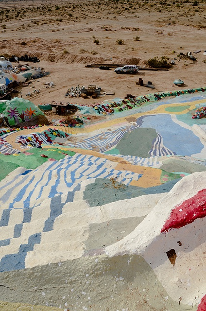 salvation mountain, located in the lower desert of Southern California