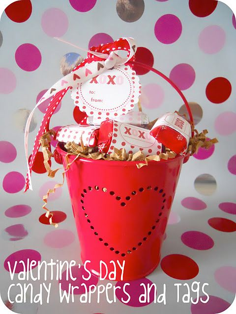 Printable Valentine tags & wrappers!