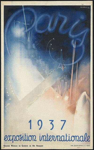 Paris. 1937 exposition internationale by Boston Public Library, via Flickr