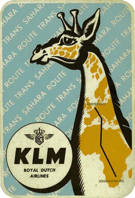 very odd KLM airline sticker