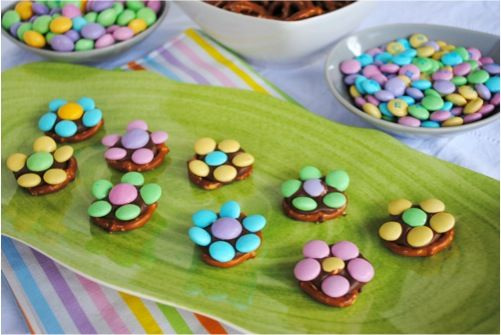 Easy Spring Chocolate Flower Treats...