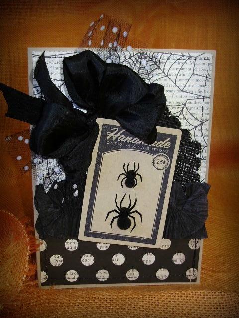 Handmade Halloween Spider Card