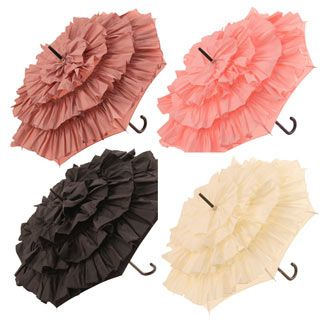 ruffle umbrellas..I WANT ONE