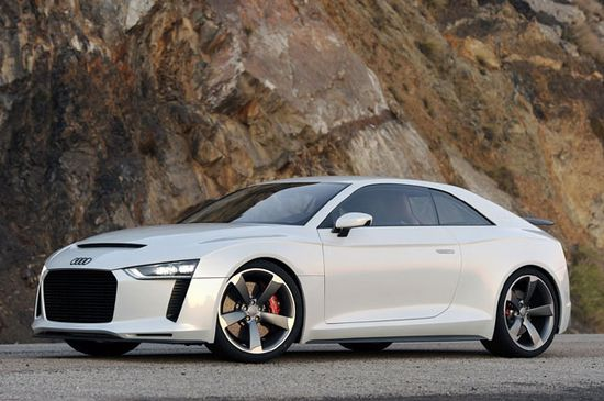 Audi Quattro Concept. Didn't like the look on the Scion tC. Still doesn't work for me.