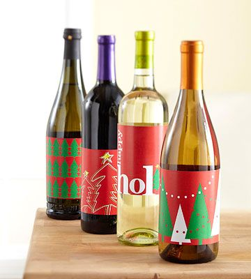 Free Printable Festive Wine Labels.  Really Like these!