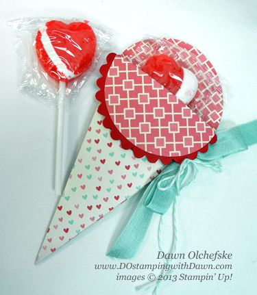 VIDEO tutorial - Cone Petal Pouch  Stampin Up, Big Shot, Petal Cone Die, Valentine ideas, Treat Pouch, More Amore, Spring Catalog, DOstamping, Dawn Olchefske, Stampin Up Demonstrator
