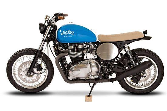 A custom Triumph Thruxton by Maria Motorcycles