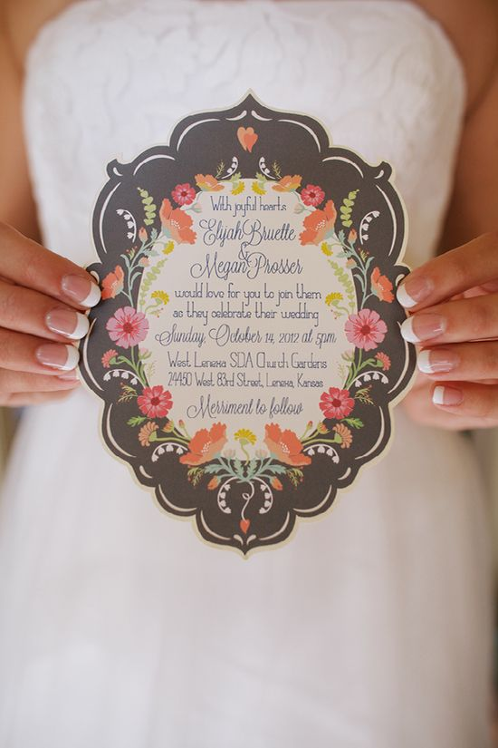 A beautiful wedding invitation!