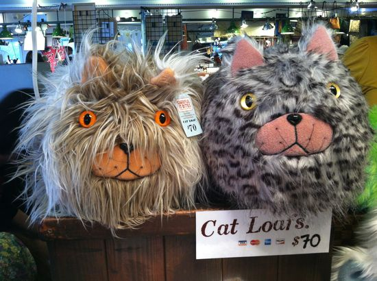 Adorable Hand Made Cat Loafs, crafts market