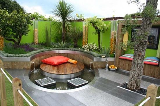 modern garden design patio