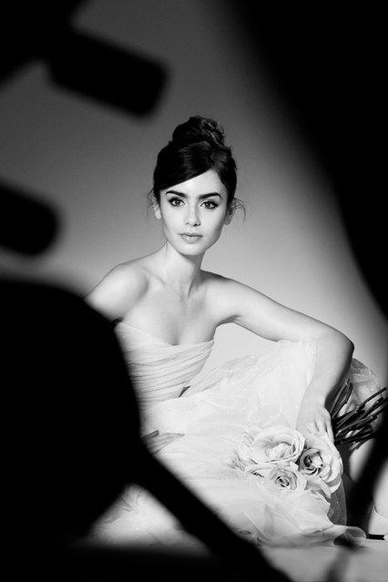 ballerina #beauty x top knot #hairstyle :: Lily Collins