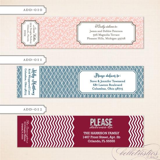 Printable DIY Wrap Around Address Label