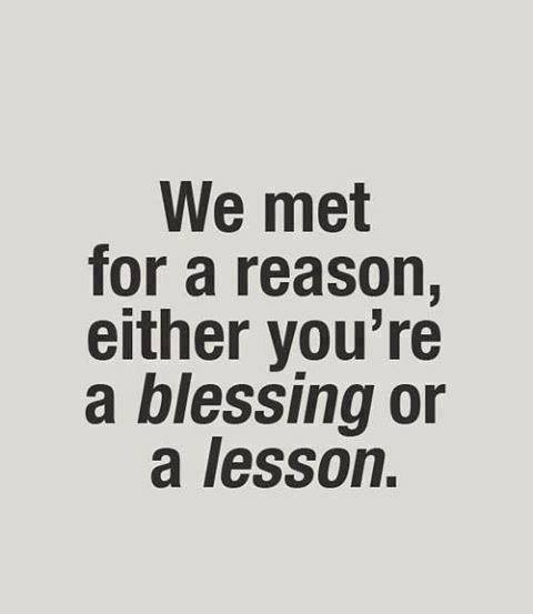 Blessing or lesson true end of story!