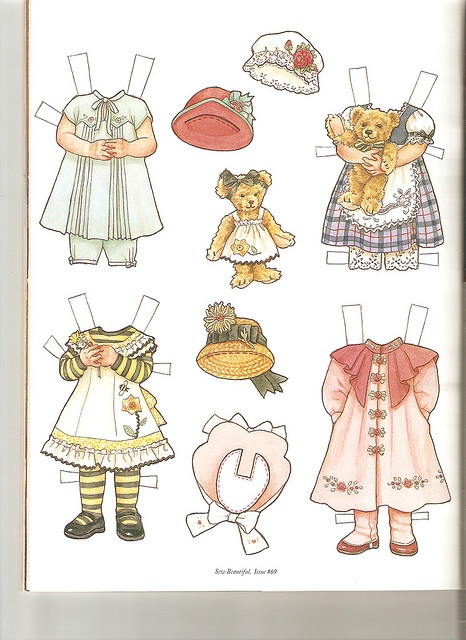 Sew Beautiful paper doll Emma 2 by Lagniappe*Too, via Flickr