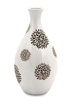 Essentials Black Flower Vase