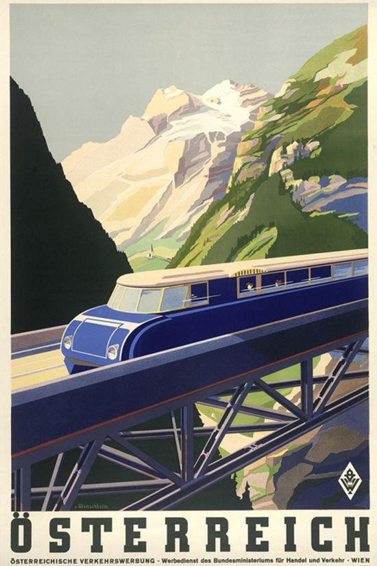 Welcome to Austria - vintage travel posters
