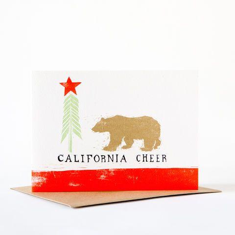California,Cheer,Card,Greeting Card, Holiday Card