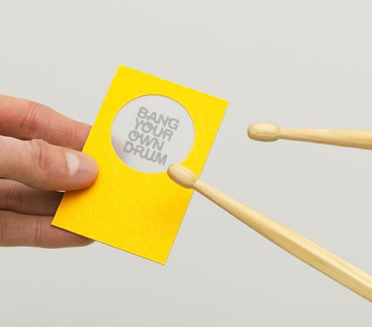Bang Your Own Drum #business card  #logo #identity