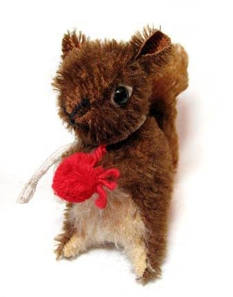 PATTERN NUTELLO Vintage Style Mohair SQUIRREL Artist by pengpengs