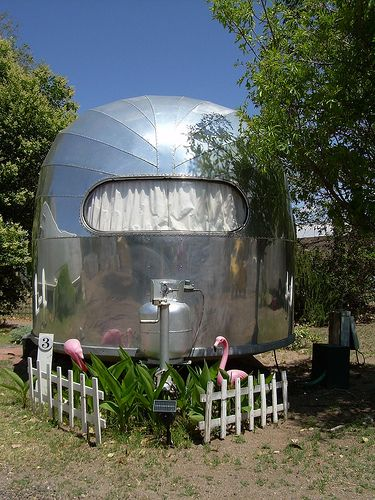 1949 Airstream Vintage Travel Trailer at the Shady Dell, Bisbee, AZ by whflood, via Flickr