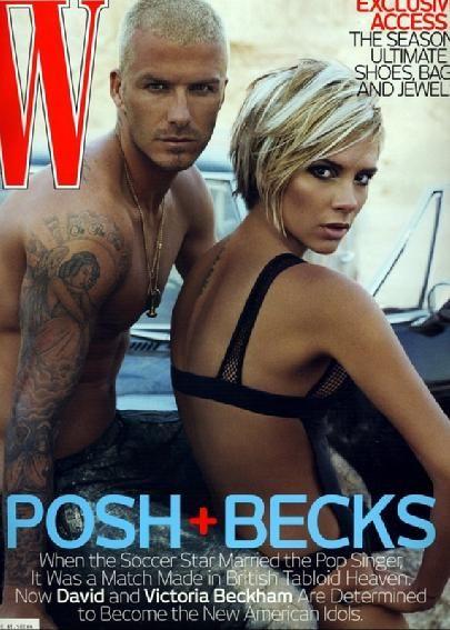 Victoria Beckham and David Beckham, W magazine November 2007