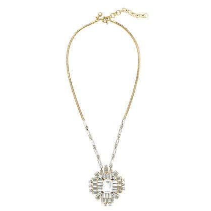 geometric crystal pendant
