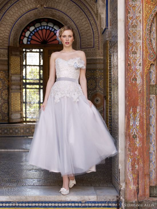 stephanie allin 2013 masquerade tea length wedding dress