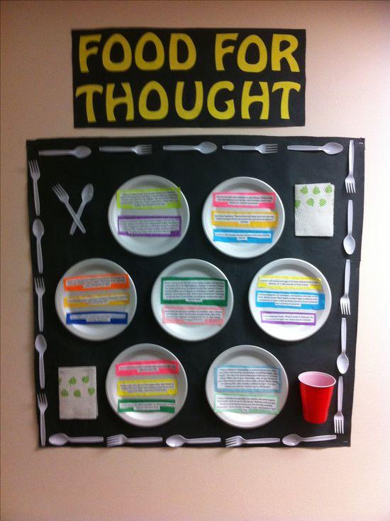 Nutrition bulletin board.