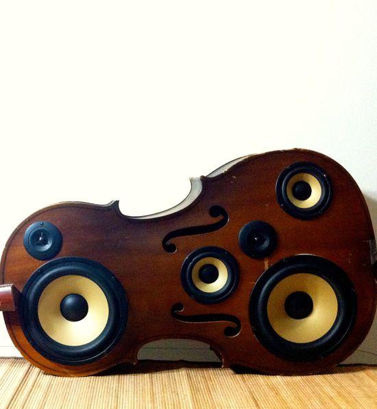 Cello Speaker Box. $600.00, via Etsy.