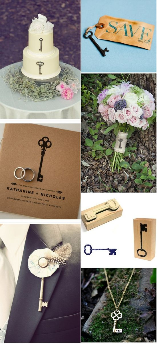 10 Creative Ways to Incorporate Vintage Keys Into Your Wedding. WANT.