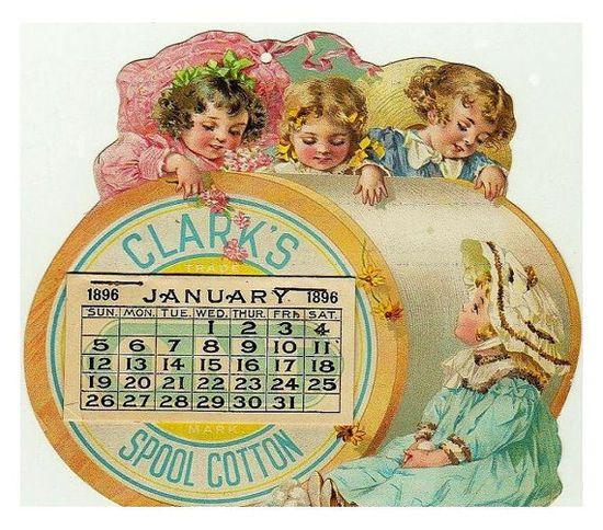 Clark's Thread vintage calendar