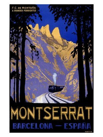 Vintage Train Travel Posters